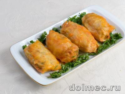 Голубцы с куриным мясом и грибами