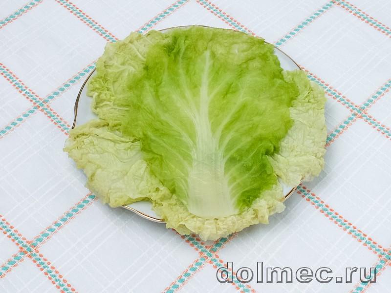 Голубцы из пекинской капусты в духовке со сметаной: фото 2