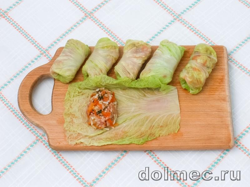 Голубцы из пекинской капусты в духовке со сметаной: фото 4