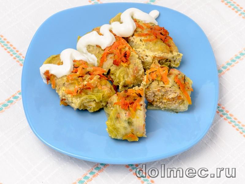 Голубцы из пекинской капусты в духовке со сметаной