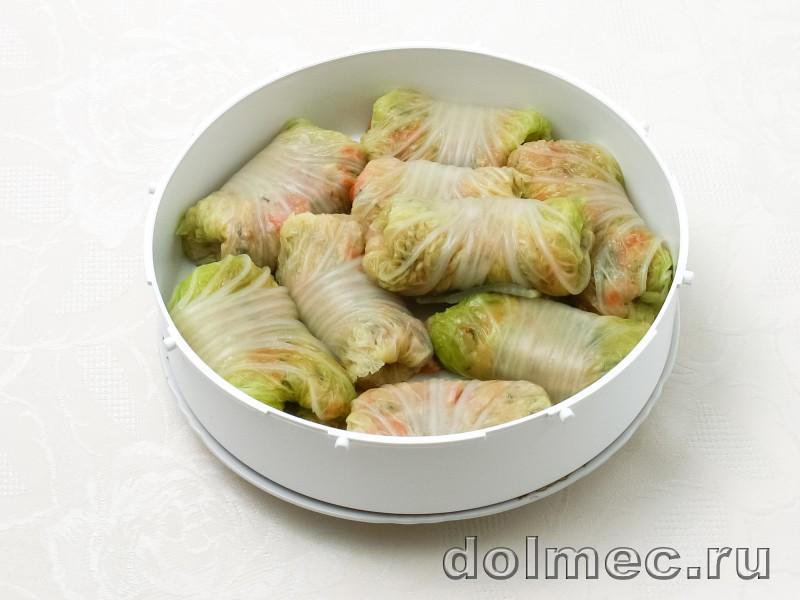 Голубцы из пекинской капусты в мультиварке на пару: фото 6