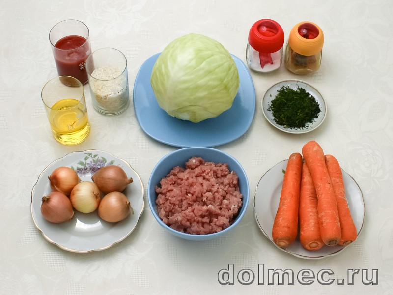 Голубцы с фаршем и рисом: фото 1