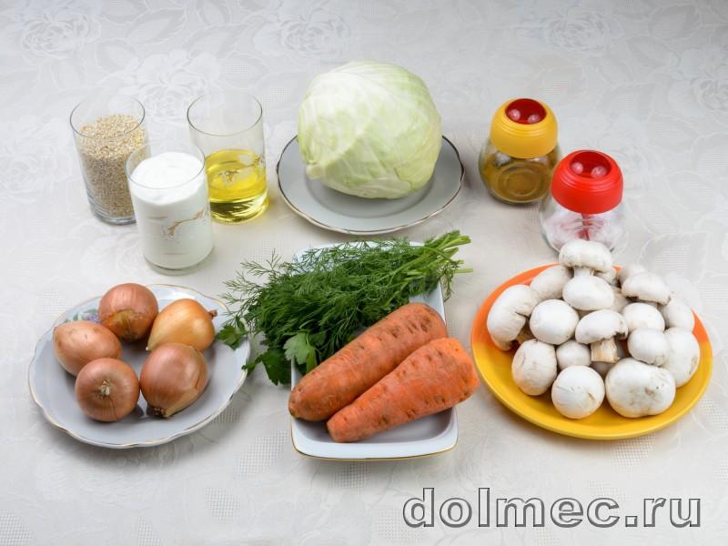 Голубцы с грибами и ячневой крупой: фото 1