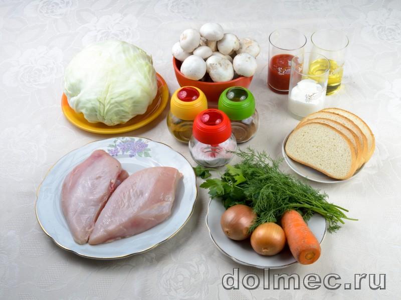 Голубцы с куриным мясом и грибами: фото 1