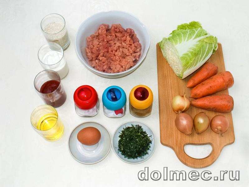 Ленивые голубцы в духовке в томатно сметанном соусе: фото 1